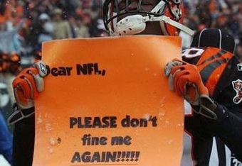 Ochocinco has apologized to NFL Commissioner Roger Goodell numerous times for his antics.  AP