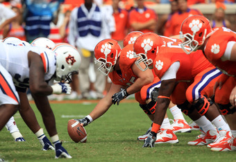 CLEMSON, SC - SEPTEMBER 17:  A general view of the Clemson Tigers during their game against the Auburn Tigers at Memorial Stadium on September 17, 2011 in Clemson, South Carolina.  (Photo by Streeter Lecka/Getty Images)