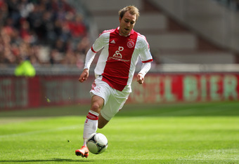 AMSTERDAM, NETHERLANDS - APRIL 01:  Christian Eriksen of Ajax in action during the Eredivisie match between Ajax Amsterdam and SC Heracles Almelo at Amsterdam Arena on April 1, 2012 in Amsterdam, Netherlands.  (Photo by Dean Mouhtaropoulos/Getty Images)