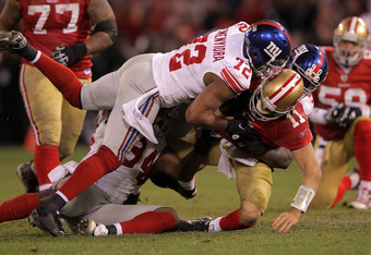 Osi is an integral part of the Giants' fearsome defensive line.