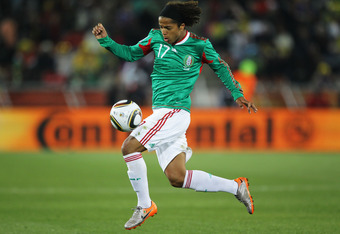 POLOKWANE, SOUTH AFRICA - JUNE 17:  Giovani Dos Santos of Mexico controls the ball during the 2010 FIFA World Cup South Africa Group A match between France and Mexico at the Peter Mokaba Stadium on June 17, 2010 in Polokwane, South Africa.  (Photo by Ezra