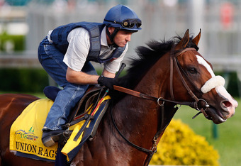 Union Rags enters the Belmont with 6-1 odds, but he'll be lucky to keep his stamina. . Rob Carr/Getty Images