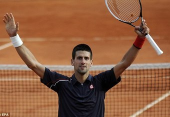 At age 25, Djokovic has won five grand slams, less than a third of Roger Federer's total and half as many as Nadal.  EPA