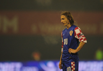 ZAGREB, CROATIA - NOVEMBER 15:  Luka Modric of Croatia in action during the EURO 2012 qualifier, play off second leg match between Croatia and Turkey at the Zagreb Stadium on November 15, 2011 in Zagreb, Croatia.  (Photo by Jamie McDonald/Getty Images)