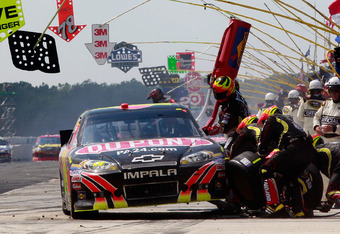 Jeff Gordon was among those who received pit roads speeding penalties at Pocono
