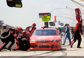 Some drivers did not speed on pit road, like winner Joey Logano