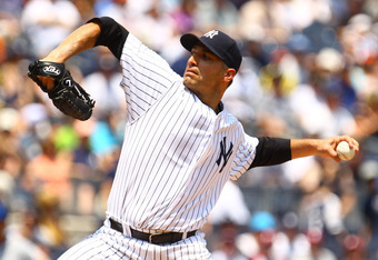 NEW YORK, NY - JUNE 10: Andy Pettitte #46 of the New York Yankees pitches to the New York Mets  during their game against the on June10, 2012 at Yankee Stadium in the Bronx borough of New York City.  (Photo by Al Bello/Getty Images)