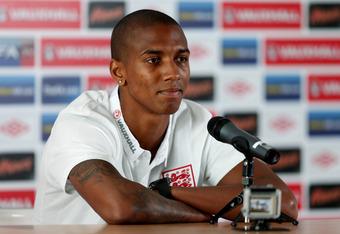 KRAKOW, POLAND - JUNE 09:  Ashley Young during an England Press Conference ahead of UEFA Euro 2012 on June 9, 2012 in Krakow, Poland.  (Photo by Scott Heavey/Getty Images)