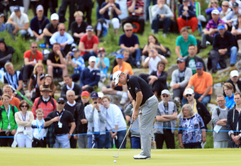 STOCKHOLM, SWEDEN - JUNE 09:  Lee Westwood of England putts on the 9th green during the final round of the Nordea Scandinavian Masters at Bro Hof Slott Golf Club on June 9, 2012 in Stockholm, Sweden.  (Photo by Richard Heathcote/Getty Images)