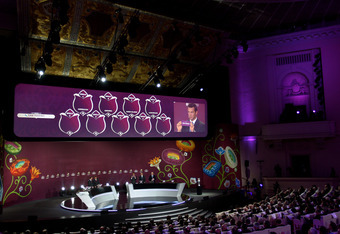 The qualifying draw for Euro 2012 took place at the Palace of Culture and Science.