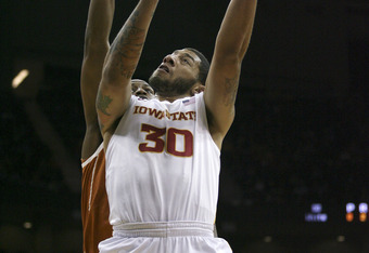KANSAS CITY, MO - MARCH 08:  Royce White #30 of the Iowa State Cyclones shoots against the Texas Longhorns during the quarterfinals of the Big 12 Basketball Tournament March 8, 2012 at Sprint Center in Kansas City, Missouri. (Photo by Ed Zurga/Getty Image