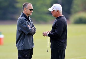 Mike Nolan and Mike Smith will spend many hours strengthening the Falcons defense for 2012.