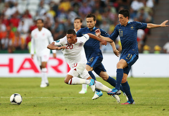 Alex Oxlade-Chamberlain was one of England's debut tournament players to play with confidence and look very at home on such a big stage.