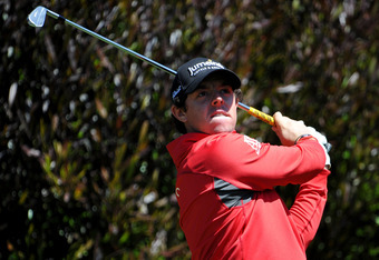 SAN FRANCISCO, CA - JUNE 12:  Rory McIlroy of Northern Ireland hits a shot during a practice round prior to the start of the 112th U.S. Open at The Olympic Club on June 12, 2012 in Daly City, California.  (Photo by Stuart Franklin/Getty Images)