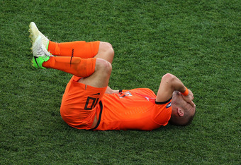 KHARKOV, UKRAINE - JUNE 09:  Wesley Sneijder of Netherlands reacts during the UEFA EURO 2012 group B match between Netherlands and Denmark at Metalist Stadium on June 9, 2012 in Kharkov, Ukraine.  (Photo by Julian Finney/Getty Images)