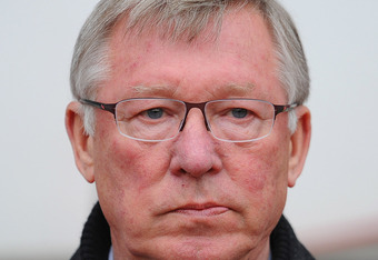SUNDERLAND, ENGLAND - MAY 13:  Manchester United manager Sir Alex Ferguson looks on during the Barclays Premier League match between Sunderland and Manchester United at the Stadium of Light on May 13, 2012 in Sunderland, England.  (Photo by Michael Regan/