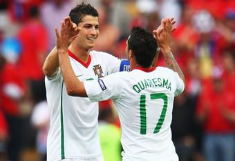 Ronaldo scored a fantastic goal against the Czech's in Euro 2008.