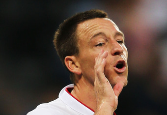 DONETSK, UKRAINE - JUNE 11:  John Terry of England shouts instructions during the UEFA EURO 2012 group D match between France and England at Donbass Arena on June 11, 2012 in Donetsk, Ukraine.  (Photo by Ian Walton/Getty Images)
