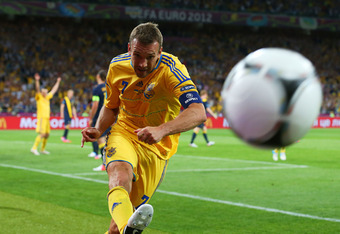 Ukraine's Andriy Shevchenko will come storming at Les Bleus