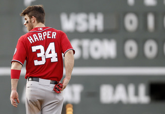 Worth noting: Harper wears the number 34 because the numbers add up to 7, Mantle's old number.