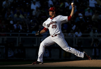 OMAHA, NE - JUNE 28:  Pitcher Michael Roth #29 of the South Carolina Gamecocks throws against the Florida Gators during game 2 of the men's 2011 NCAA College Baseball World Series at TD Ameritrade Park Omaha on June 28, 2011 in Omaha, Nebraska.  (Photo by