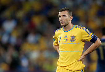 DONETSK, UKRAINE - JUNE 15: Andriy Shevchenko of Ukraine looks on during the UEFA EURO 2012 group D match between Ukraine and France at Donbass Arena on June 15, 2012 in Donetsk, Ukraine.  (Photo by Ian Walton/Getty Images)
