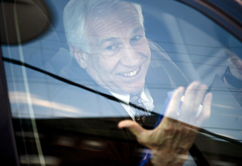 Jerry Sandusky Appears to be All Smiles at His Child Molestation Trial