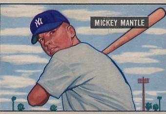 Mantle's original 1951 Bowman rookie card