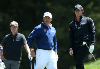 Luke and Rory missed the cut. Lee Westwood will play on the weekend