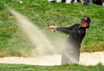 SAN FRANCISCO, CA - JUNE 15:  Bubba Watson of the United States plays a bunker shot on the second hole during the second round of the 112th U.S. Open at The Olympic Club on June 15, 2012 in San Francisco, California.  (Photo by Stuart Franklin/Getty Image