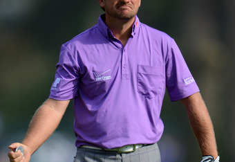 SAN FRANCISCO, CA - JUNE 16:  Graeme McDowell of Northern Ireland watches a shot during the third round of the 112th U.S. Open at The Olympic Club on June 16, 2012 in San Francisco, California.  (Photo by Stuart Franklin/Getty Images)