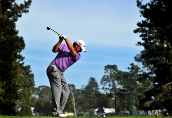 SAN FRANCISCO, CA - JUNE 16:  Graeme McDowell of Northern Ireland hits his tee shot on the 14th hole during the third round of the 112th U.S. Open at The Olympic Club on June 16, 2012 in San Francisco, California.  (Photo by Stuart Franklin/Getty Images)