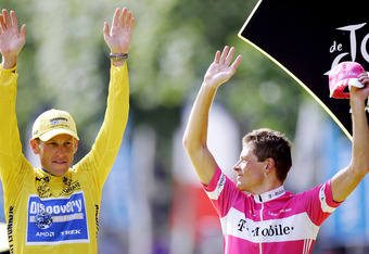 Hands up everyone who has doped? Armstrong and Ullrich on the podium in Paris