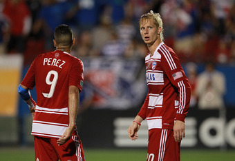 FRISCO, TX - APRIL 05:  Brek Shea #20 of FC Dallas at FC Dallas Stadium on April 5, 2012 in Frisco, Texas.  (Photo by Ronald Martinez/Getty Images)
