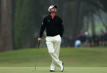 SAN FRANCISCO, CA - JUNE 17:  Graeme McDowell of Northern Ireland waits on the seventh green during the final round of the 112th U.S. Open at The Olympic Club on June 17, 2012 in San Francisco, California.  (Photo by David Cannon/Getty Images)