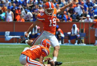 Florida kicker Caleb Sturgis