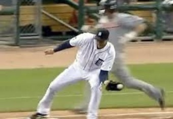 Armando Galaragga's missed call on final out which cost him his perfect game in 2010