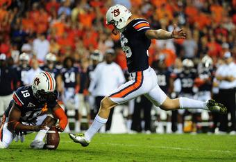 Auburn kicker Cody Parkey