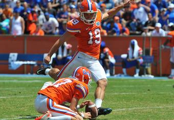 Florida place kicker Caleb Sturgis