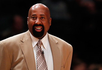 NEW YORK, NY - MAY 06:  Head coach Mike Woodson of the New York Knicks looks on against the Miami Heat in Game Four of the Eastern Conference Quarterfinals in the 2012 NBA Playoffs on May 6, 2012 at Madison Square Garden in New York City. NOTE TO USER: Us