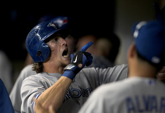 Colby Rasmus, hitter of home runs and maker of funny faces.