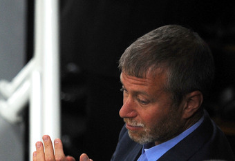 DONETSK, UKRAINE - JUNE 19:  Chelsea FC owner Roman Abramovich looks on during the UEFA EURO 2012 group D match between England and Ukraine at Donbass Arena on June 19, 2012 in Donetsk, Ukraine.  (Photo by Christopher Lee/Getty Images)