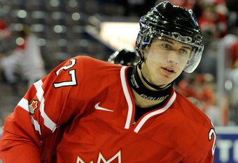 EDMONTON, CANADA - DECEMBER 31:  Ryan Murray #27 of Team Canada skates during the warm up period prior to facing Team USA in their 2012 World Junior Hockey Championship game at Rexall Place on December 31, 2011 in Edmonton, Alberta, Canada.  (Photo by Ric