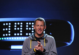 NEW YORK, NY - JANUARY 19:  Seven-time Tour de France champion Lance Armstrong attends the unveiling of the NIKE+ FuelBand at Highline Stages on January 19, 2012 in New York City.  (Photo by Neilson Barnard/Getty Images)
