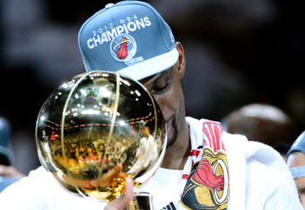 Chris Bosh also won his first championship after many years in Toronto.