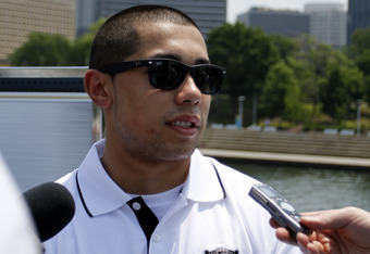 PITTSBURGH, PA - JUNE 21:  Top NHL prospect Mathew Dumba speaks to the media during media availability on the Gateway Clipper Express on June 20, 2012 in Pittsburgh, Pennsylvania.  (Photo by Justin K. Aller/Getty Images)