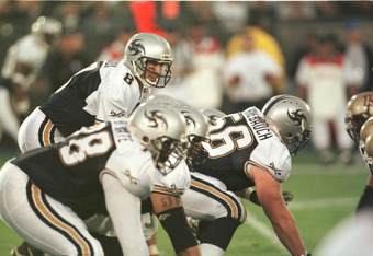 24 Mar 2001:  Quarterback Tommy Maddux #8 of the Los Angeles Xtreme in action against the Las Vegas Outlaws at the Los Angeles Memorial Coliseum in Los Angeles. The Xtreme won 35-26. Mandatory Credit: Todd Warshaw/ALLSPORT