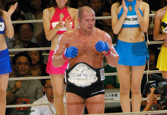 Emelianenko Fedor, the Winner of the PRIDE Heavy Weight Title Match (Photo by Tomokazu Tazawa/Getty Images)