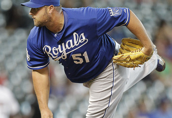 HOUSTON, TX - JUNE 20:  Jonathan Broxton #51 of the Kansas City Royals throws in the ninth inning to retire the side against the Houston Astros at Minute Maid Park on June 20, 2012 in Houston, Texas. Kansas City defeats Houston 2-1. (Photo by Bob Levey/Ge