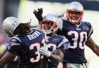 Sergio Brown (right) and Josh Barrett (left) could both be more firmly on the bubble as a result of the Patriots bringing back Ihedigbo.